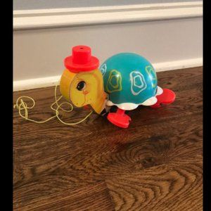 Fisher price antique turtle pull toy